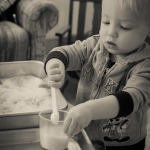 Playing in Rice {12 Days of Sensory Play}